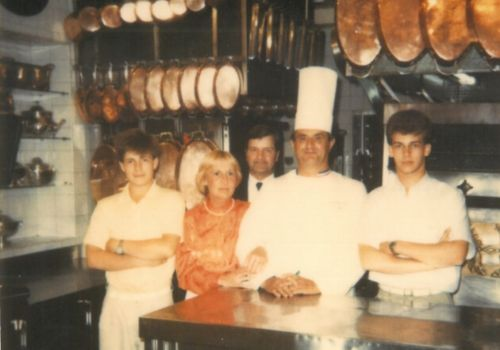 Family Van Bulck with Paul Bocuse